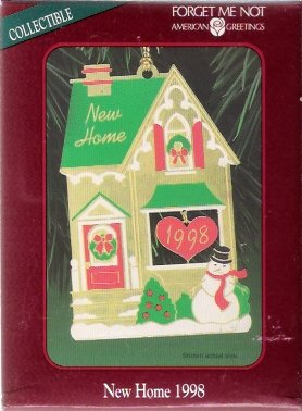 American greetings new home 1998 christmas ornament mint in box m4hsunfo