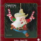 Carlton Cards Brother 1998 #40 Santa Claus as Sheriff Christmas Ornament Mint in Box