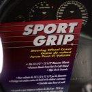 Superior Sport Grip Steering Wheel Cover Black/Blue Color New in Package