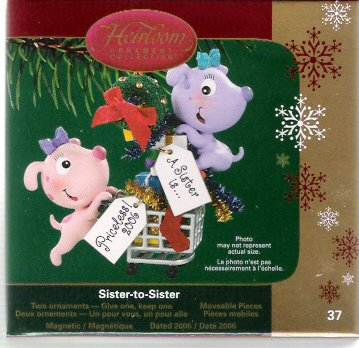 Carlton Cards Sister to Sister 2006 Christmas Ornament #37 Mint in Box