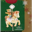 Carlton Cards My Third Christmas Ornament #19 Bear on Carousel Horse Mint in Box