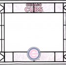 Vintage Chicago Cubs Mini Stained Glass Window Display Mint Condition