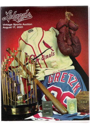 Lelands Sports Babe Ruth Ted Williams Mickey Mantle August 2001 Auction Catalog