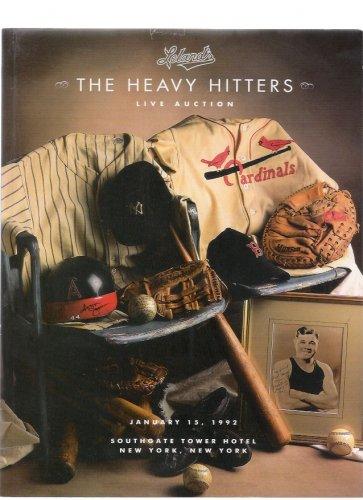 Leland's Heavy Hitters Sports Memorabilia Babe Ruth 1992 Auction Catalog