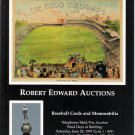 Robert Edward Auctions Catalog Polo Grounds Lou Gehrig Babe Ruth June 28, 1997