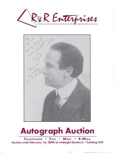 R&R Enterprises Autograph Auction Harry Houdini Magician Feb. 2000 Catalog 234
