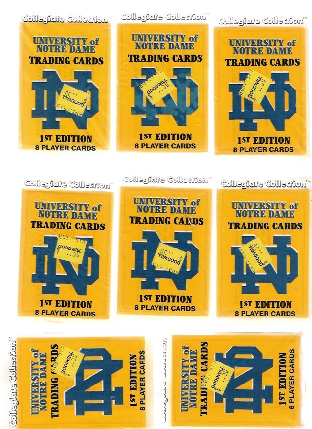 Notre Dame Fighting Irish 1990 FB Trading Cards First Edition 14 Unopened Packs Knute Rockne