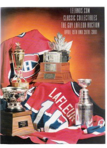 Lelands Guy Lafleur Bobby Orr Vintage Hockey Collectibles April 2001 Auction Catalog