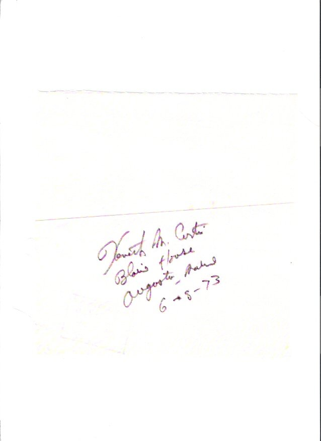 Kenneth M. Curtis Maine Governor 1973 Autographed Quilt Block