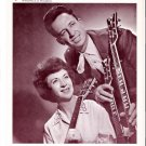 Original Joe & Rose Lee Maphis 1960s Flame Theatre Starday Country Music Photo