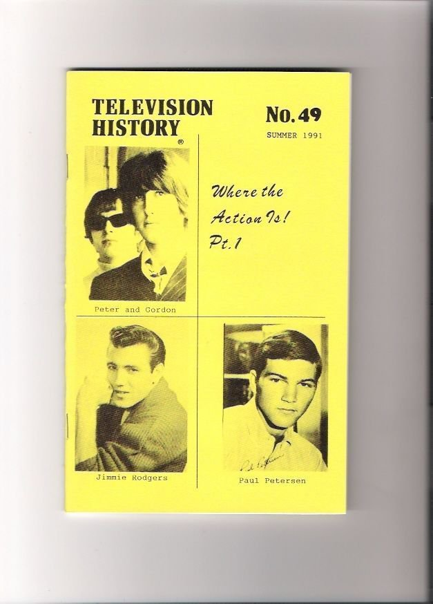 Where The Action Is! Television History Fanzines Rock Music Episode Guide 1991