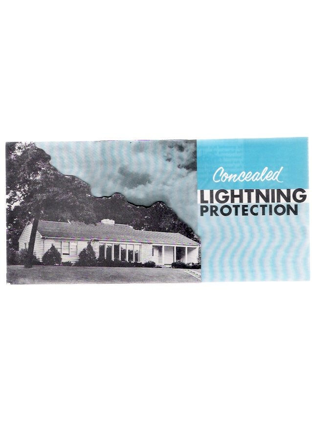 1959 Concealed Thompson Lightning Protection Minneapolis Vintage Advertising Brochure