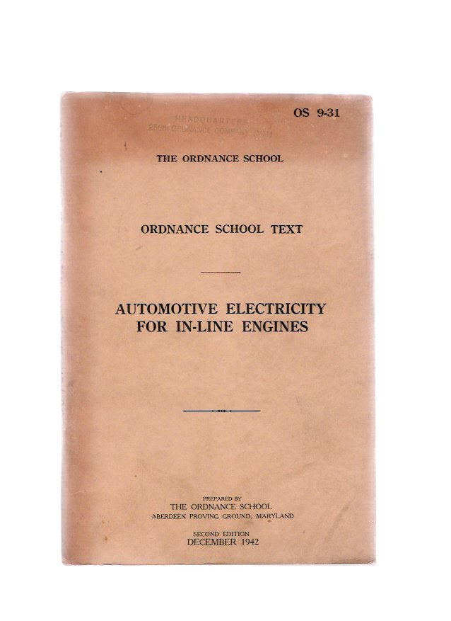 World War II 1942 U.S. Army Automotive Electricity Ordnance School Technical Book