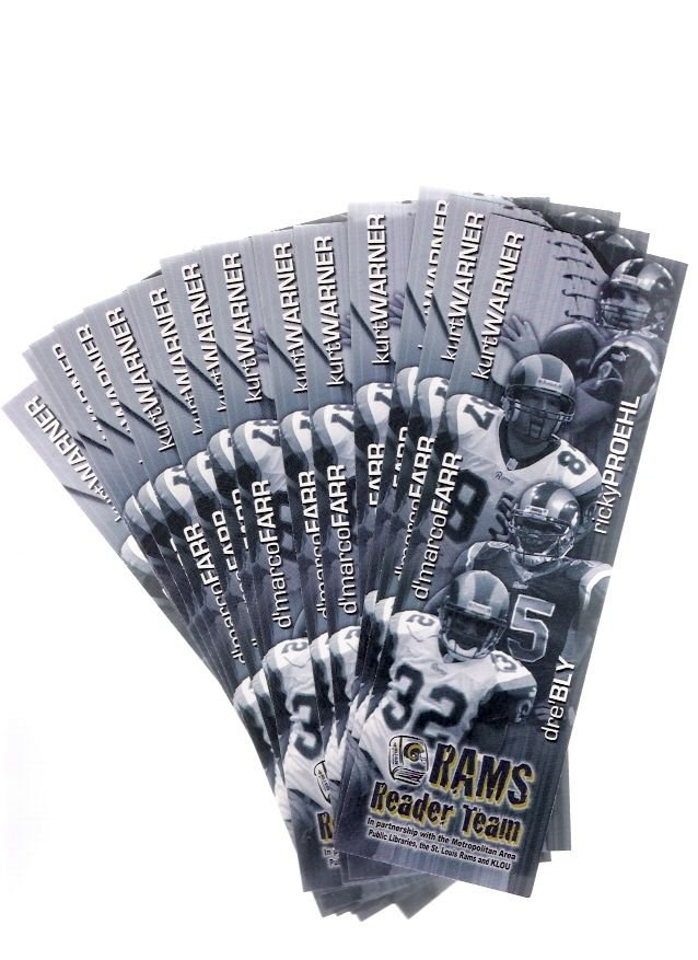 15 St. Louis Rams 1999-2000 Kurt Warner, D'Marco Farr, Ricky Proehl Bookmarks