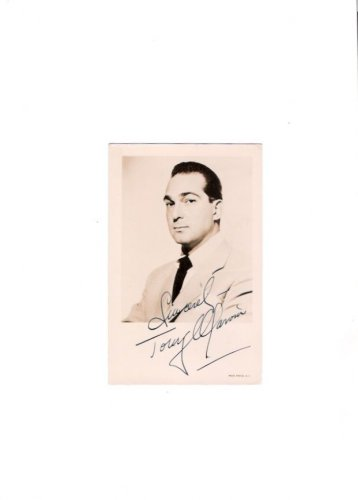Tony Marvin Old Time Radio Arthur Godfrey Announcer Autographed Photo