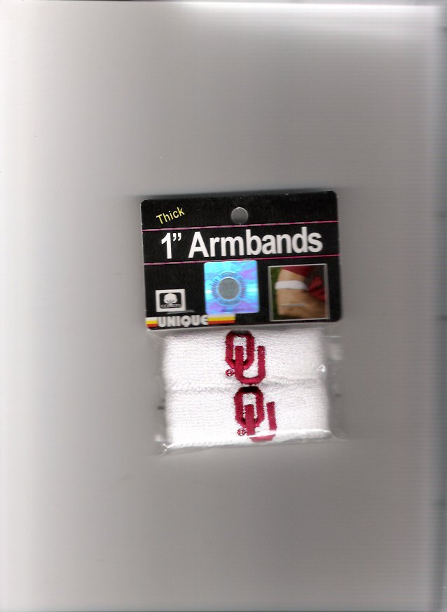 Oklahoma University Sooners OU Team Armbands New in Package