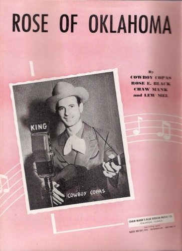 Cowboy Copas Rose of Oklahoma 1945 Vintage Country Music Sheet