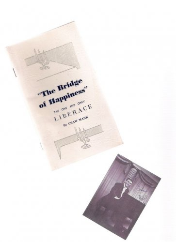 Liberace Pianist, Actor, Entertainer 1961 Biography Booklet & Photo Card
