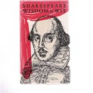 Shakespeare Wisdom & Wit 1967 Hardcover Illustrated Book Peter Pauper Press