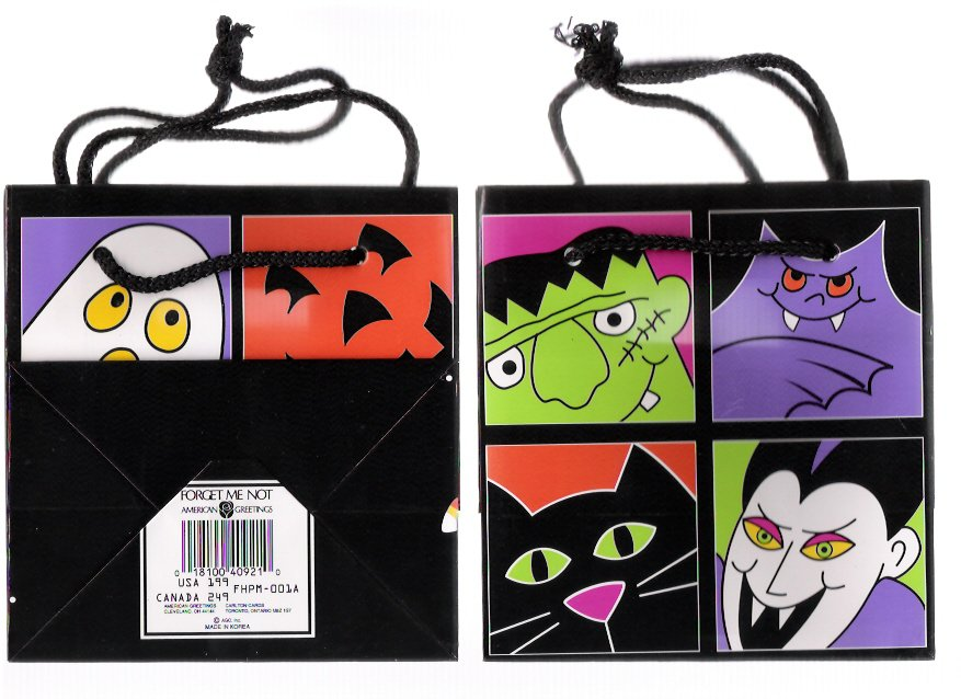 7 Vintage Halloween Vampire Trick or Treat Party Bags & Orange & Black Party Balloons New Unopened