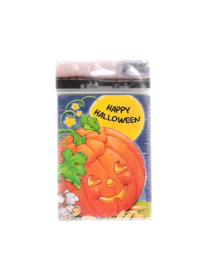 Vintage American Greetings Halloween Pumpkin Mouse Greeting Cards New Unopened Package