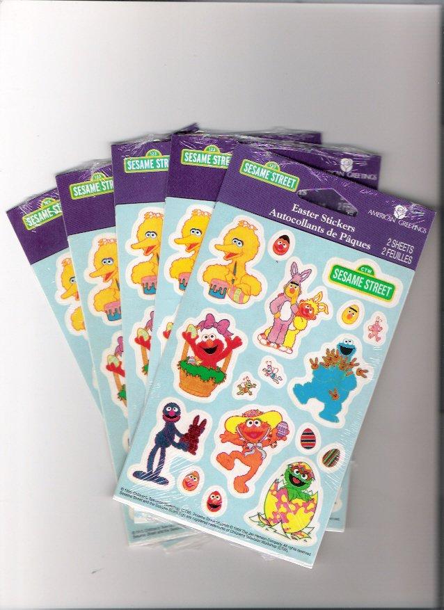 Vintage Sesame Street 2000 Easter Stickers American Greetings