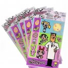 Vintage 2000 Powerpuff Girls Easter Stickers 5 Packages Cartoon Network New Sealed