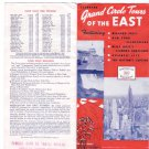 Grand Circle Tours of the East 1947 & 1948 Travel Brochures Niagara Falls NYC