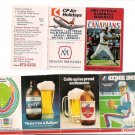 Vintage 1981 Montreal Expos & 1983 Vancouver Canadians Pocket Schedules