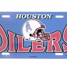 Vintage Houston Oilers Plastic License Plate Game Day Tag