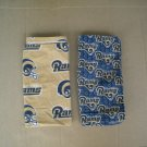 Pair of Official Vintage St. Louis Rams Small Tablecloths Dish Towels