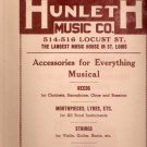 Hunleth Music Co. St. Louis 1940s Large Music Supply Catalog Brochure