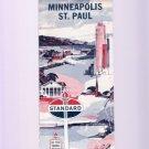 Vintage 1964 Standard Oil Minneapolis St. Paul Minnesota Road & Travel Map