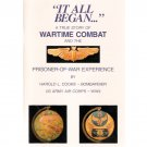 True Story of World War II Combat & POW Experience Book 15th AF Harold L. Cooke