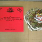 Vintage 1996 Miller Beer 26 Christmas Wreath Wall Decorations New Unused in Box