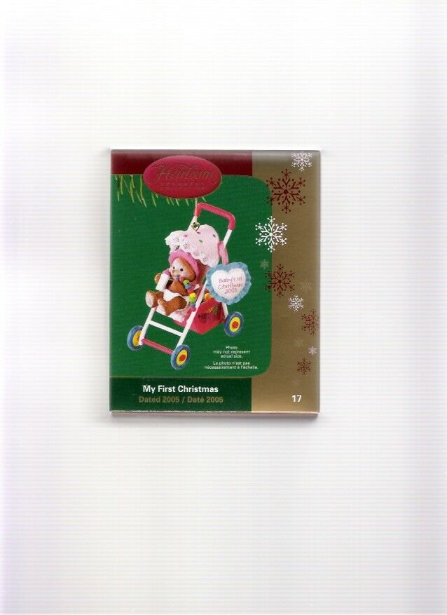 Carlton Cards My First Christmas 2005 Bear in Stroller #17 Ornament New in Box