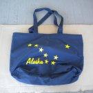 Vintage Alaska Eight Gold Star State Flag Blue and Yellow Nylon Tote Bag Unused