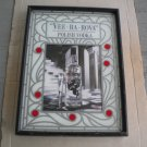 Vintage 1980s Vee Ba Rova Wyborowa Polish Vodka Sign & Mirror Wood Glass Frame