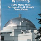 Vintage 1992 Wunnenberg's St. Louis City & County Missouri Street Guide