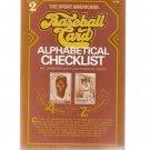 Sport Americana Baseball Card Alphabetical Checklist No. 2 1983 Beckett, Eckes
