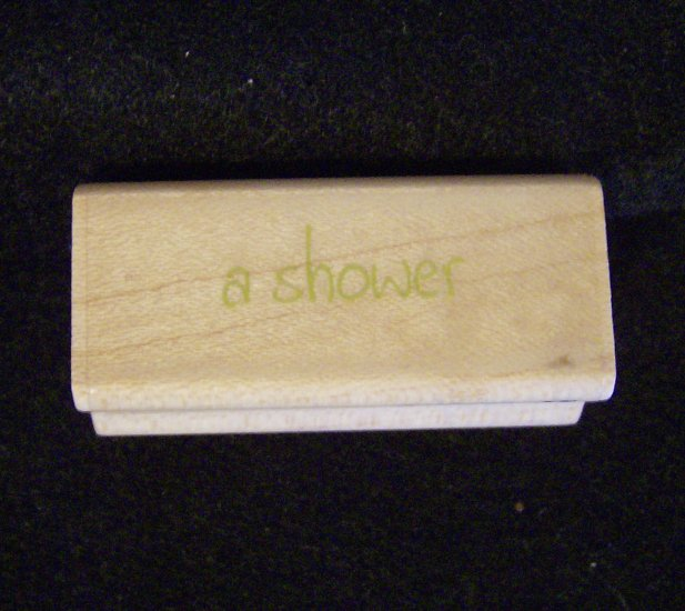 a shower  Rubber Stampede 3330K Wood Mounted Rubber Stamp