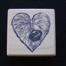 Leaf & Ladybug Rubber Stamp Wood Mounted New Too Much Fun Rubber Stamps