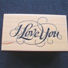 PSX E-1240 I Love You  Rubber Stamp New 1994