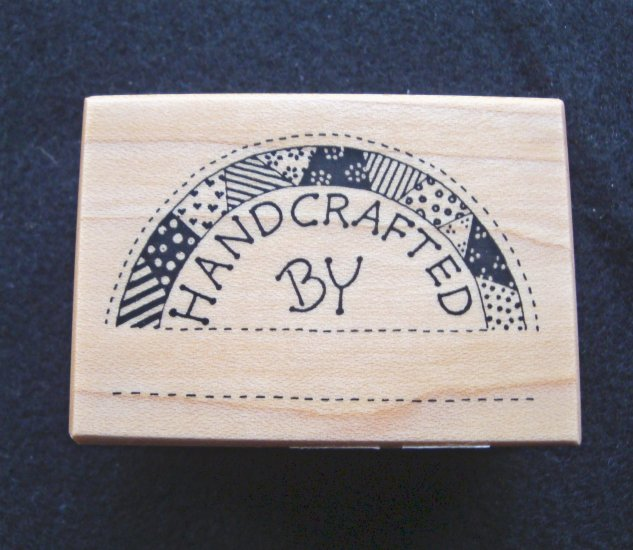 PSX D595  Handcrafted by Quilt Rubber Stamp New 1988