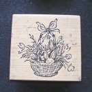 PSX F-2262 Easter Basket Wood Mounted Rubber Stamp Gently Used