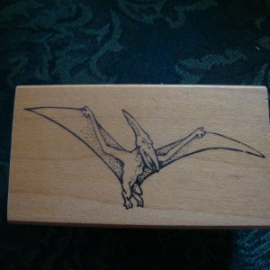 Pterydactyl Rubber Stamp New A La Art D21-027