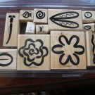 Definitely Decorative Springtime Fun Stampin' Up! Retired Stamp Set USED