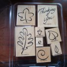 Festive Fall Stampin' Up! Retired Stamp Set USED