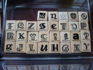 Crazy Alphabet Stampin' Up! Retired Stamp Set