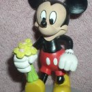 Disney Mickey Mouse  holding flowers for Minnie Mouse PVC Figurine